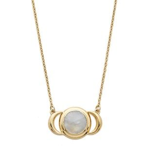 Pamela Love Moonstone Celestial Moon Necklace